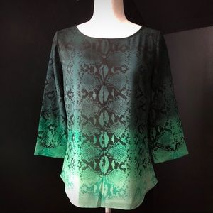 The Limited Snake Print Ombré Blouse